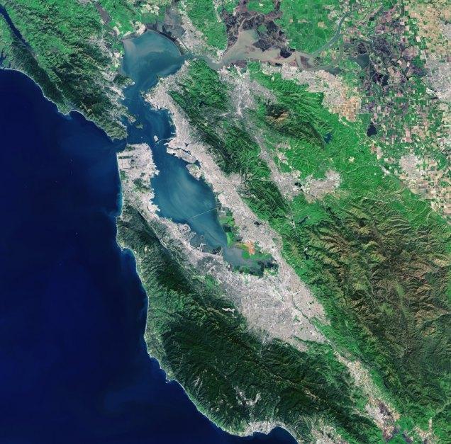 Sat-Bild der Woche/ San Francisco Bay Area/ USA
